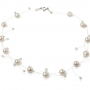 Изящно съчетание от едри и дребни, бели, естествени перли 1