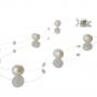 Бяло перлено колие на прозрачна бижутерска нишка 1