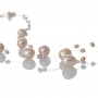 Красиво, едноредно колие от лилави, естествени перли 1