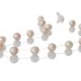 Нежно едноредно колие с лилави естесвени перли 1