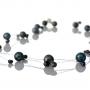 Елегантно колие от едри и дребни, черни, естествени перли 1