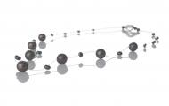 Нежно колие от едри и дребни, черни, естествени перли