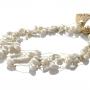 Kолие в съчетание от бели естествени перли в различна форма 1